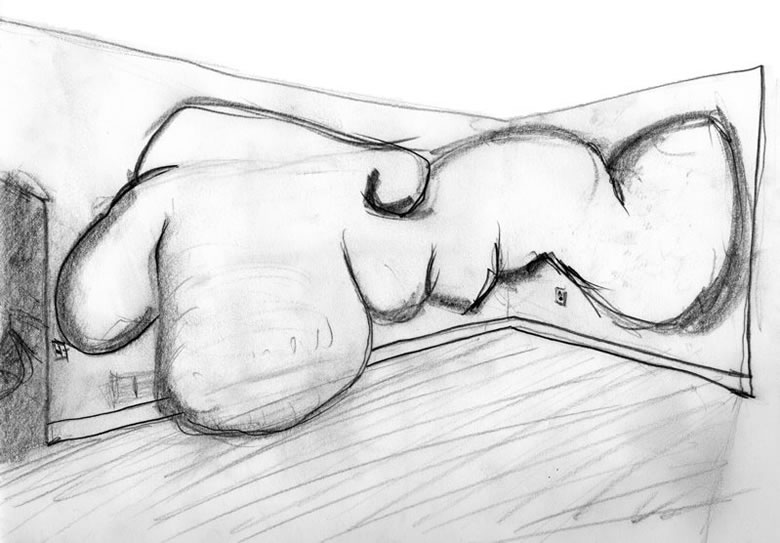 Study for small space | graphite on paper | 2004