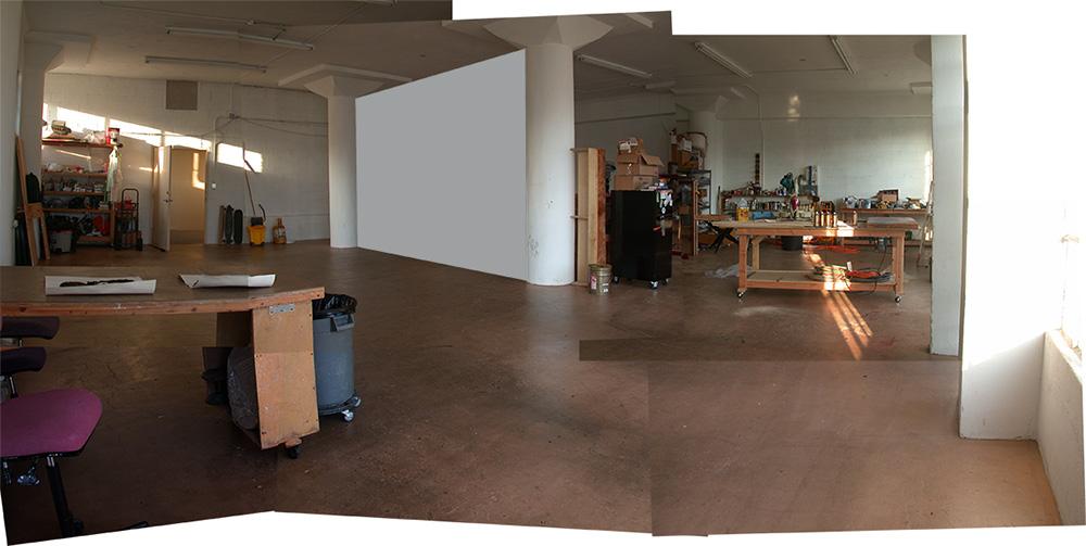 Studio with Photoshopped Wall
