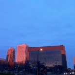 A Pink Sunset at Hennepin and 3rd