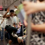 Dance Performance on Subway