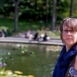 Elizabeth at Bethesda Fountain in Central Park
